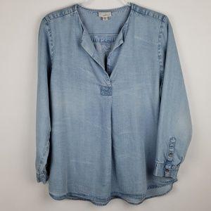 J Jill denim tunic top
